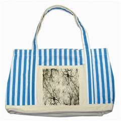 Tree Knots Bark Kaleidoscope Striped Blue Tote Bag