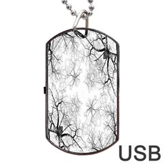 Tree Knots Bark Kaleidoscope Dog Tag USB Flash (One Side)