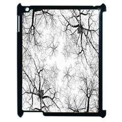 Tree Knots Bark Kaleidoscope Apple Ipad 2 Case (black)