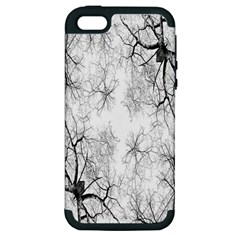 Tree Knots Bark Kaleidoscope Apple iPhone 5 Hardshell Case (PC+Silicone)