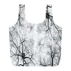 Tree Knots Bark Kaleidoscope Full Print Recycle Bags (l)