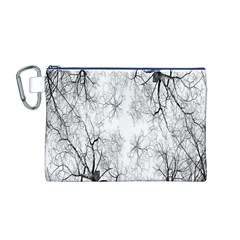 Tree Knots Bark Kaleidoscope Canvas Cosmetic Bag (m)