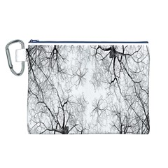 Tree Knots Bark Kaleidoscope Canvas Cosmetic Bag (l)