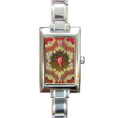 Tile Background Image Color Pattern Rectangle Italian Charm Watch