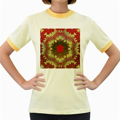 Tile Background Image Color Pattern Women s Fitted Ringer T-Shirts