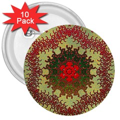 Tile Background Image Color Pattern 3  Buttons (10 pack)