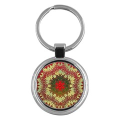 Tile Background Image Color Pattern Key Chains (round)