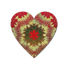 Tile Background Image Color Pattern Heart Magnet
