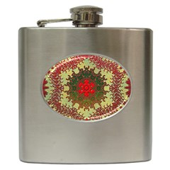 Tile Background Image Color Pattern Hip Flask (6 oz)