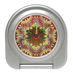 Tile Background Image Color Pattern Travel Alarm Clocks
