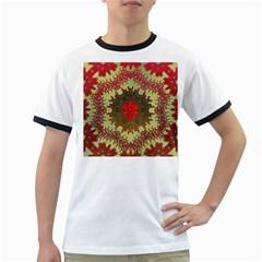 Tile Background Image Color Pattern Ringer T-Shirts