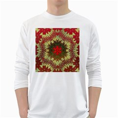 Tile Background Image Color Pattern White Long Sleeve T Shirts