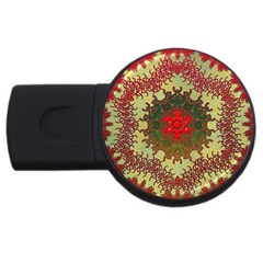 Tile Background Image Color Pattern Usb Flash Drive Round (4 Gb)