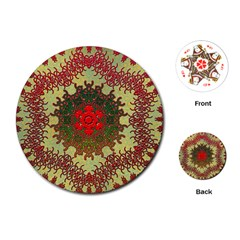Tile Background Image Color Pattern Playing Cards (Round)
