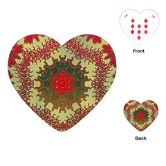 Tile Background Image Color Pattern Playing Cards (heart)