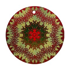 Tile Background Image Color Pattern Round Ornament (Two Sides)