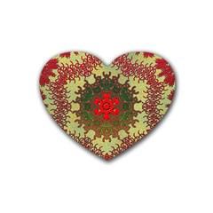 Tile Background Image Color Pattern Heart Coaster (4 pack)