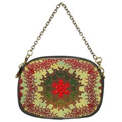 Tile Background Image Color Pattern Chain Purses (Two Sides)