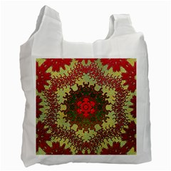 Tile Background Image Color Pattern Recycle Bag (one Side)