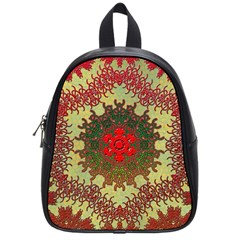 Tile Background Image Color Pattern School Bags (Small)