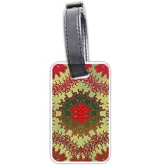 Tile Background Image Color Pattern Luggage Tags (One Side)