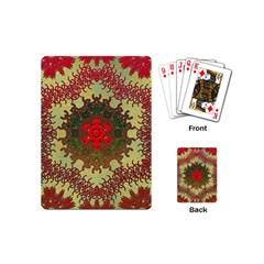 Tile Background Image Color Pattern Playing Cards (mini)