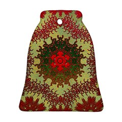 Tile Background Image Color Pattern Bell Ornament (Two Sides)