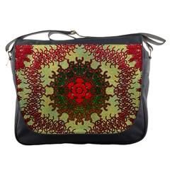 Tile Background Image Color Pattern Messenger Bags