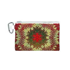Tile Background Image Color Pattern Canvas Cosmetic Bag (S)
