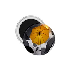 Umbrella Yellow Black White 1.75  Magnets