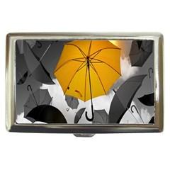 Umbrella Yellow Black White Cigarette Money Cases