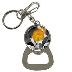 Umbrella Yellow Black White Button Necklaces