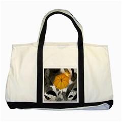 Umbrella Yellow Black White Two Tone Tote Bag