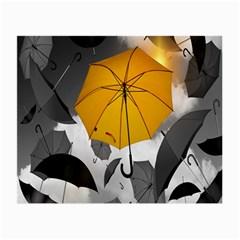 Umbrella Yellow Black White Small Glasses Cloth (2 Side)