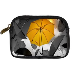 Umbrella Yellow Black White Digital Camera Cases