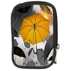 Umbrella Yellow Black White Compact Camera Cases