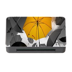 Umbrella Yellow Black White Memory Card Reader With Cf