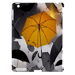 Umbrella Yellow Black White Apple Ipad 3/4 Hardshell Case (compatible With Smart Cover)
