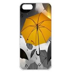 Umbrella Yellow Black White Apple Iphone 5 Seamless Case (white)