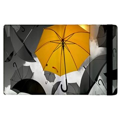 Umbrella Yellow Black White Apple Ipad 3/4 Flip Case