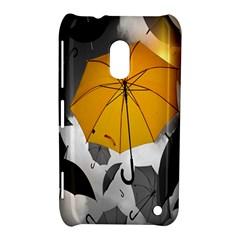 Umbrella Yellow Black White Nokia Lumia 620