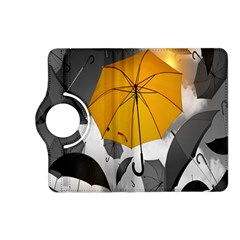 Umbrella Yellow Black White Kindle Fire HD (2013) Flip 360 Case