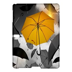 Umbrella Yellow Black White Samsung Galaxy Tab S (10 5 ) Hardshell Case