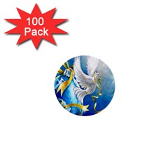 Turtle Doves Christmas 1  Mini Buttons (100 pack)
