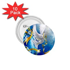 Turtle Doves Christmas 1.75  Buttons (10 pack)