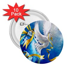 Turtle Doves Christmas 2.25  Buttons (10 pack)