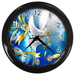 Turtle Doves Christmas Wall Clocks (black)
