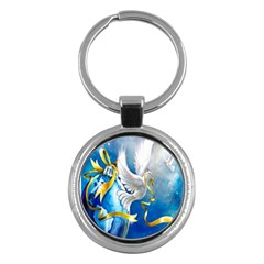 Turtle Doves Christmas Key Chains (Round)