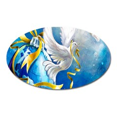 Turtle Doves Christmas Oval Magnet