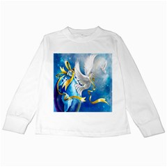 Turtle Doves Christmas Kids Long Sleeve T-Shirts